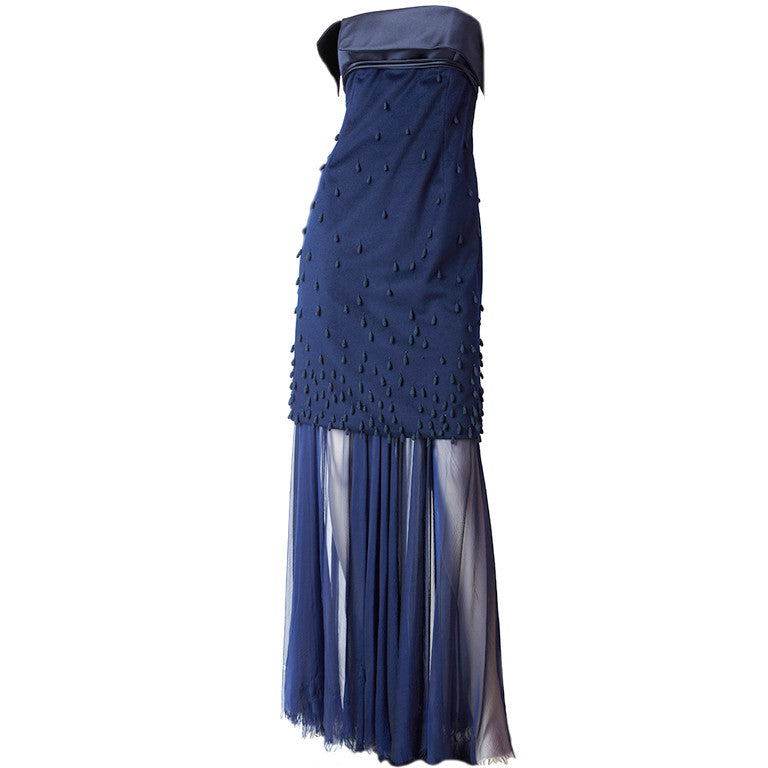 Chado Ralph Rucci Navy Gown
