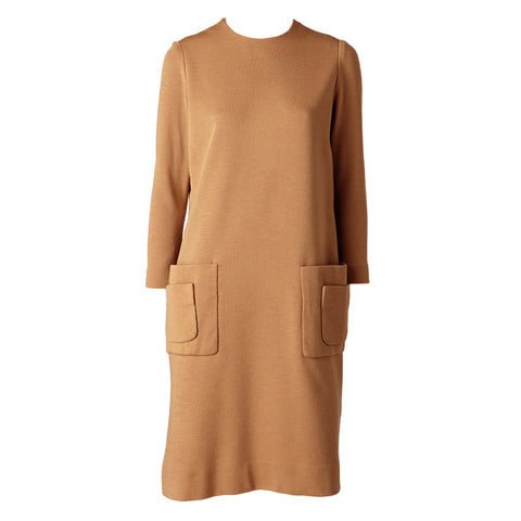 Norman Norell Wool Knit Day Dress