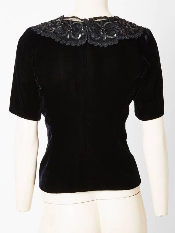 Yves Saint Laurent Couture Velvet Top
