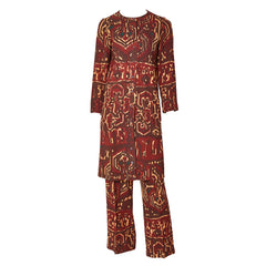 Yves Saint Laurent Rive Gauche 70's Tunic and Pant Ensemble