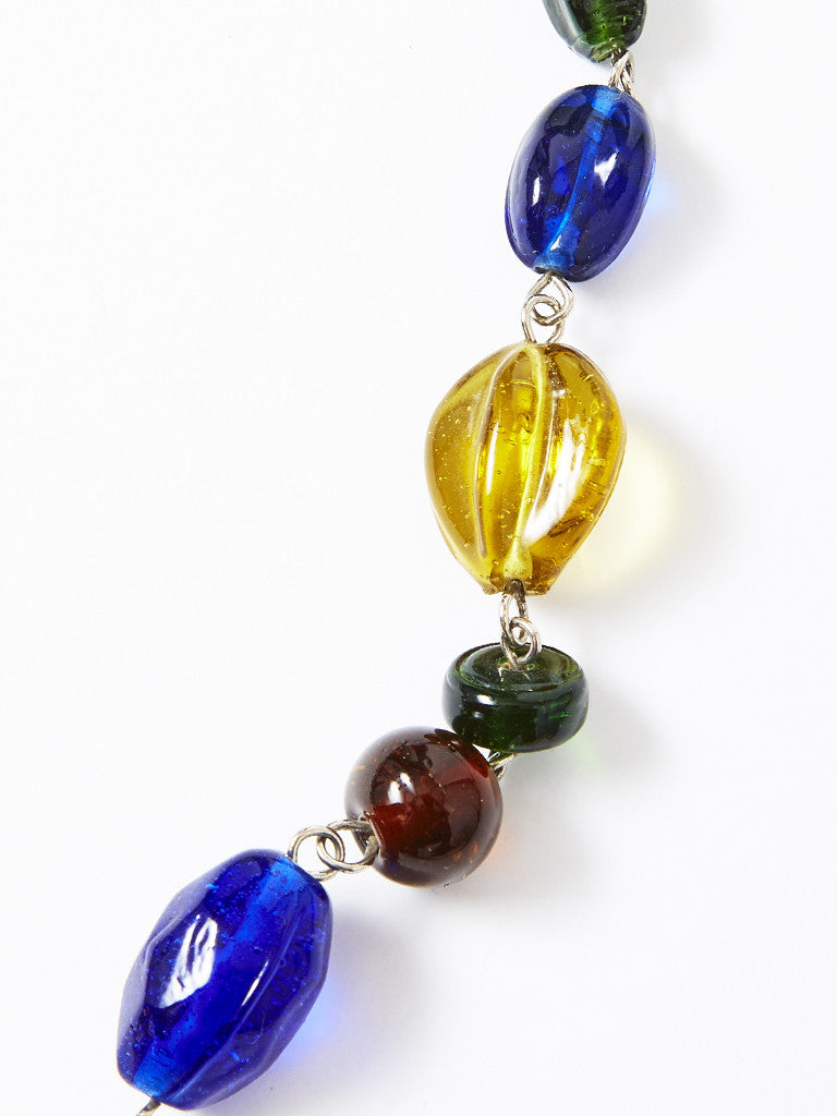 Yves Saint Laurent Beaded Glass Necklace