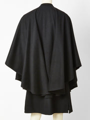 Yves Saint Laurent Tiered Wool Cape