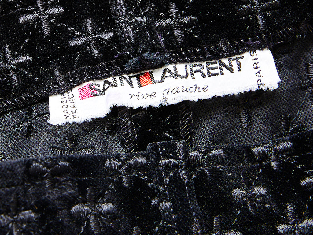 Yves Saint Laurent Velvet Embroidered Knickers