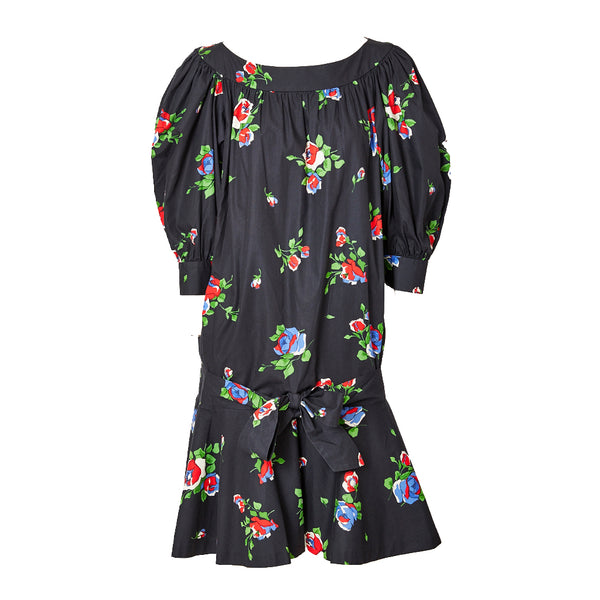 Yves Saint Laurent Floral Pattern Smock Dress