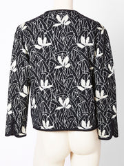 Yves Saint Laurent Floral Knit Cardigan