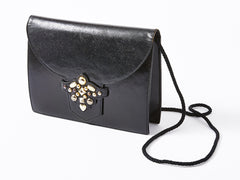 Yves Saint Laurent Black Leather Shoulder Bag