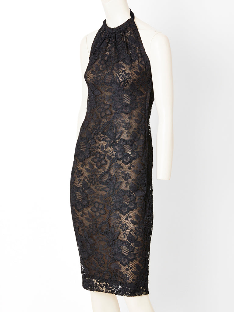Yves Saint Laurent Couture Lace Cocktail Dress