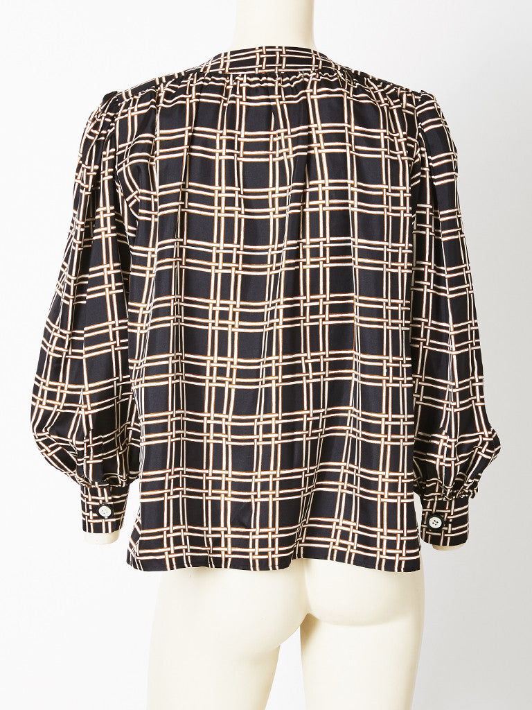 Yves Saint Laurent Silk Smock Blouse