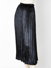 Yves Saint Laurent Panne Velvet Pleated Skirt