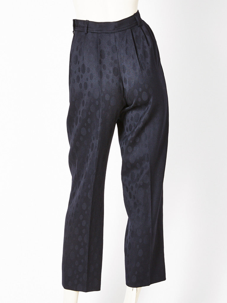 Yves Saint Laurent Wool Jacquard Trouser