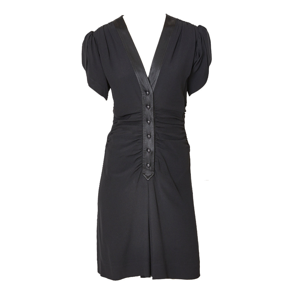 Yves Saint Laurent Rive Gauche Silk 40's Inspired Dress