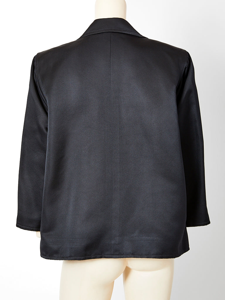 Yves Saint Laurent Satin Oversize Evening Jacket
