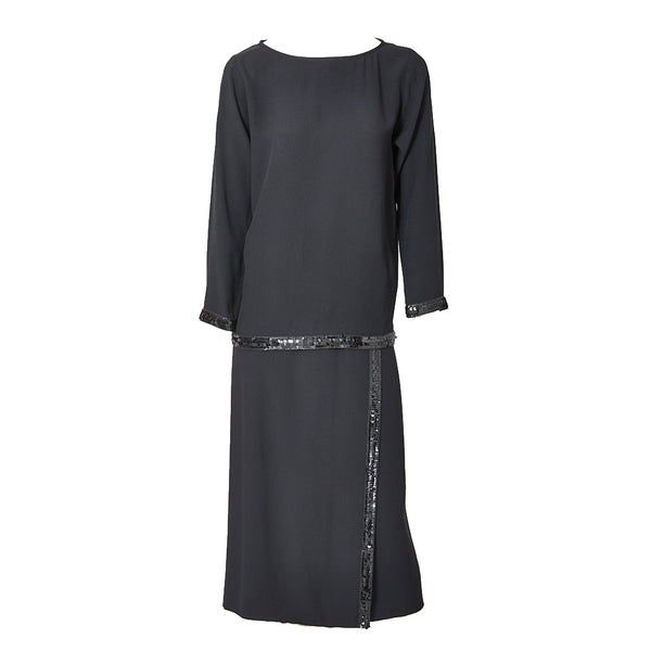 Yves Saint Laurent Tunic and Wrap Skirt Evening Ensemble