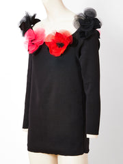 Yves Saint Laurent Tunic with Poppy Flower Embellishment