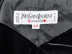 Yves Saint Laurent RIve Gauche Velvet Evening Dress