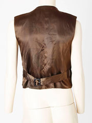 Yves Saint Laurent Tyrolean Inspired Velvet Gilet