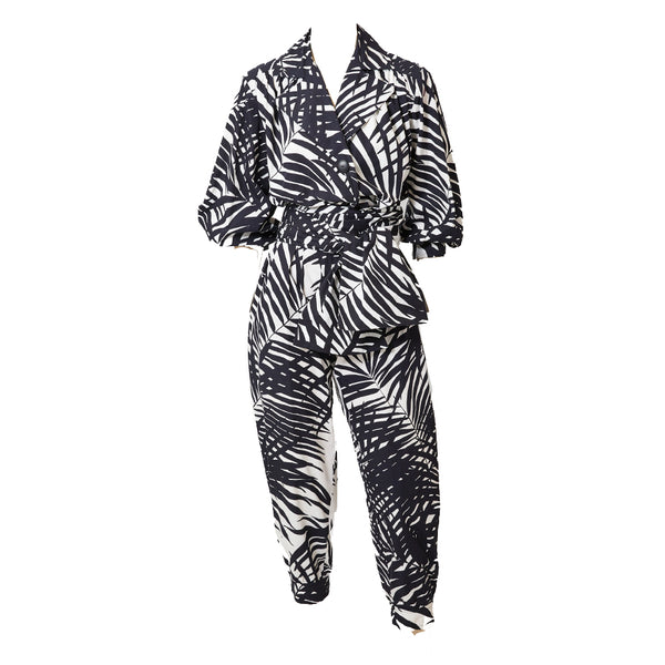 Yves Saint Laurent Rive Gauche Graphic Pattern Ensemble