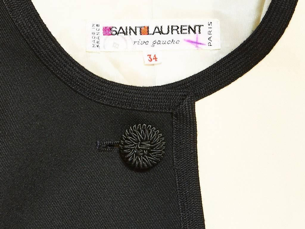 Yves Saint Laurent Black and White Suit