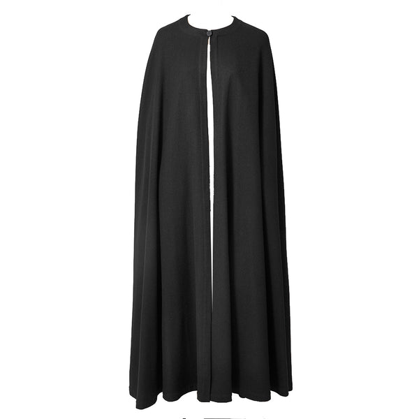 Yves Saint Laurent Rive Gauche Wool Maxi Cape