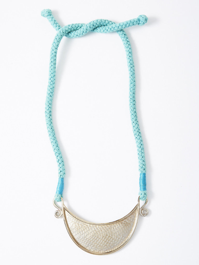 Yves Saint Laurent Turquoise Cord Necklace