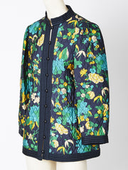 Yves Saint Laurent Patterned Silk Quilted Jacket