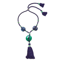 Yves Saint Laurent Rive Gauche Chinese Inspired Lucite Pendent with Tassel