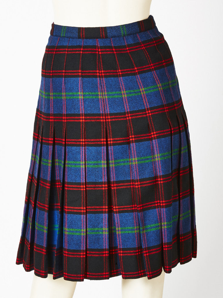 Yves Saint Laurent Plaid Kilt