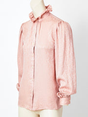 Yves Saint Laurent Silk Jacquard Blouse