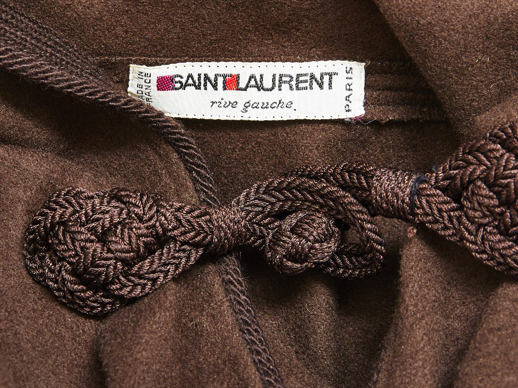 Yves Saint Laurent Moroccan Inspired Hooded Cape