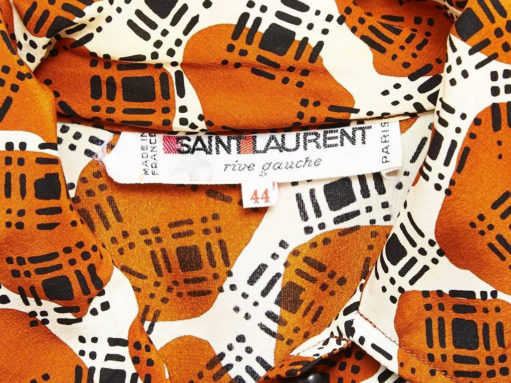 Yves Saint Laurent Printed Day Dress