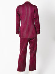 Yves Saint Laurent Gaberdine Striped Pantsuit
