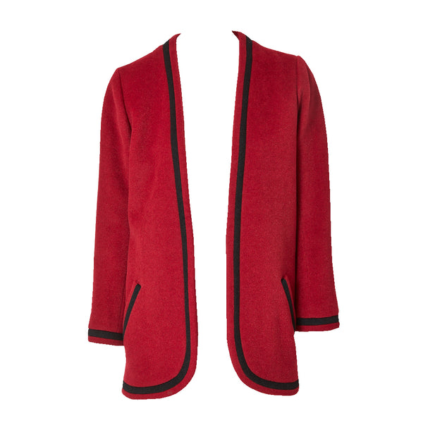 ca877d1da99 Yves Saint Laurent Wool Jacket with Braided Detail