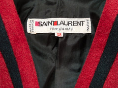 Yves Saint Laurent Wool Jacket with Braided Detail