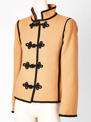 Yves Saint Laurent Wool Jacket With Passementerie