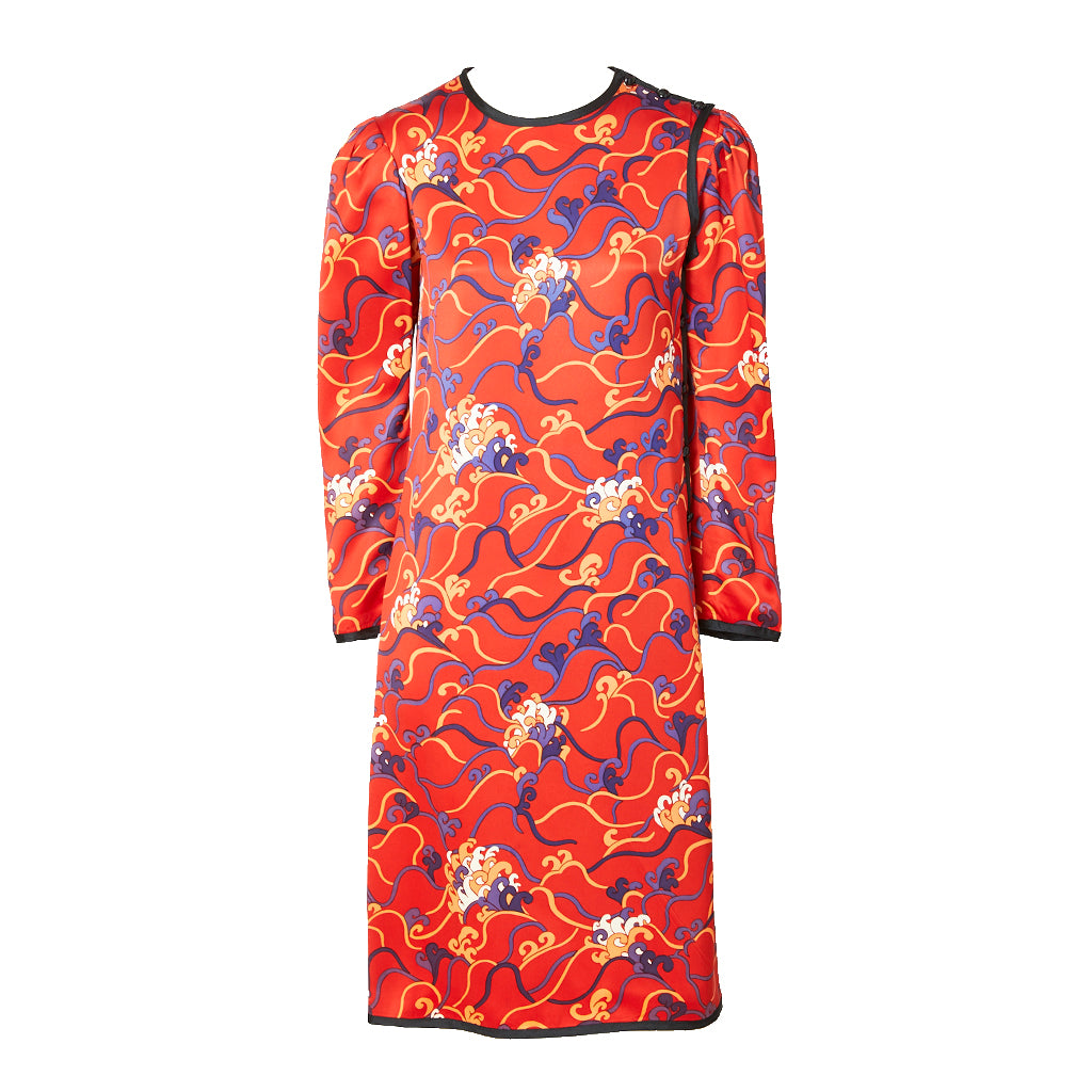 Yves Saint Laurent Chinese Collection Patterned Dress