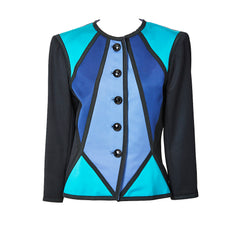 Yves Saint Laurent Satin Color Block Dinner Jacket