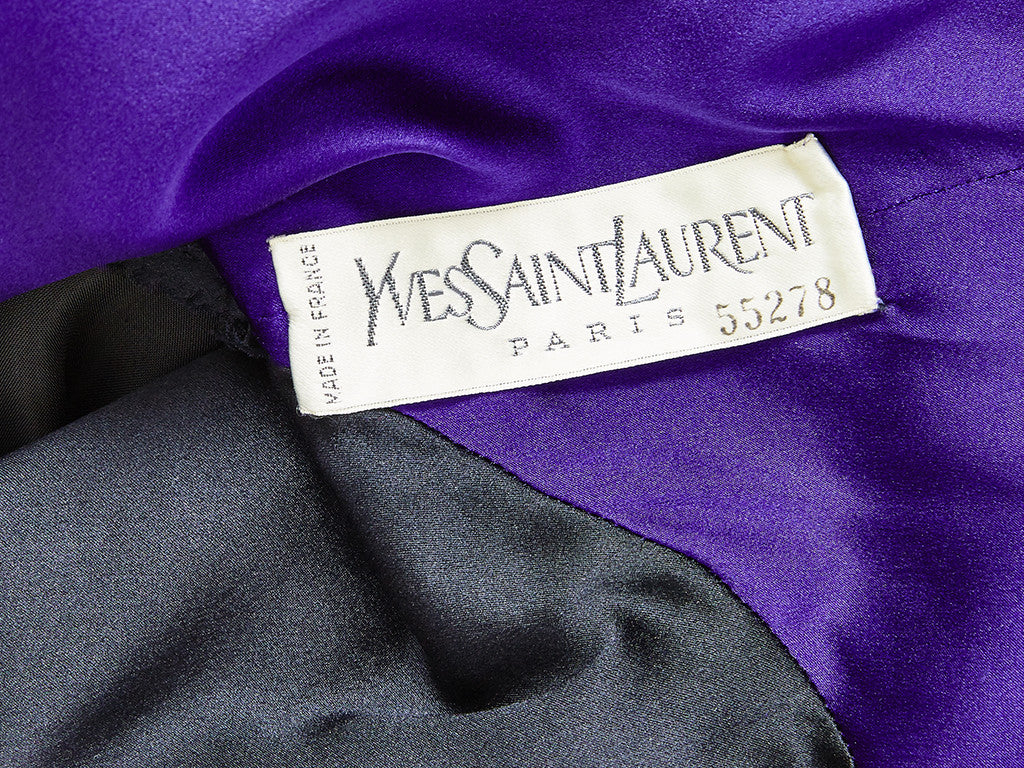 Yves Saint Laurent Couture Velvet Dress and Jacket Ensemble