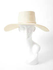 Yves Saint Laurent Cream Tone Wide Brim Hat