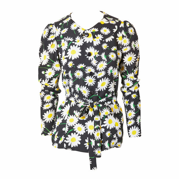Yves Saint Laurent Daisy Pattern Belted Jacket