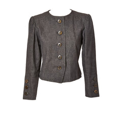 Yves Saint Laurent Rive Gauche Cropped Denim Jacket