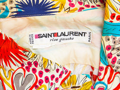Yves Saint Laurent Rive Gauche Patterned Silk Shirt Drss