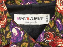 "Yves Saint Laurent Floral Pattern ""Jean Jacket"""