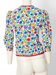 Yves Saint Laurent Rive Gauche Floral Pattern Jacket