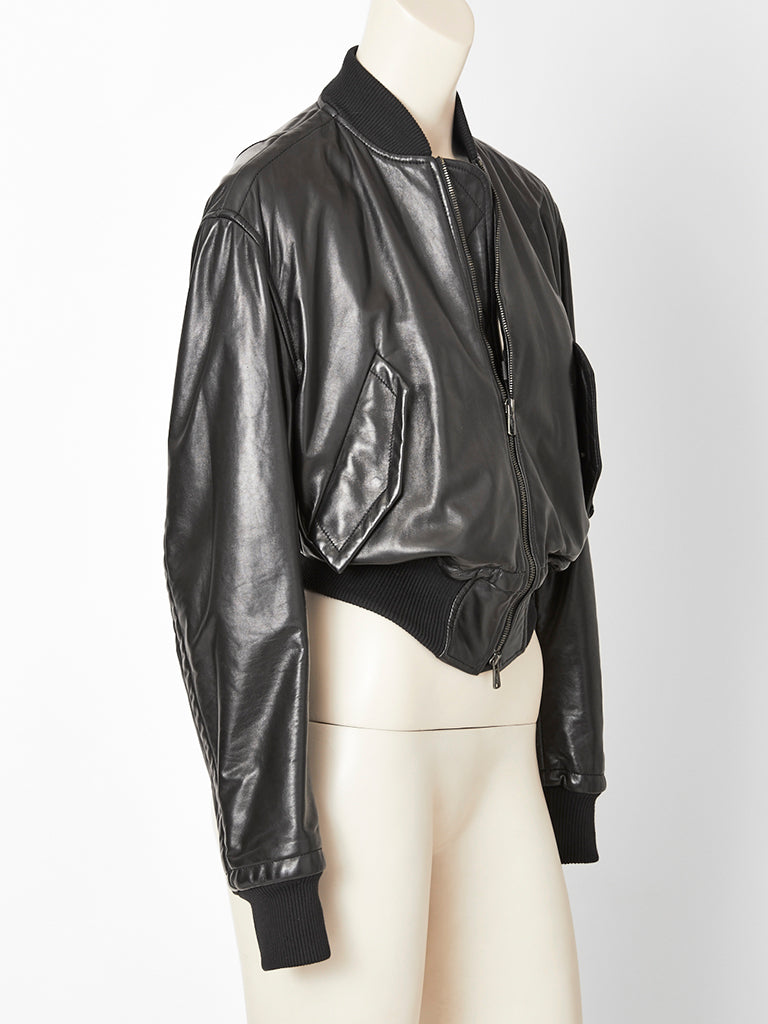 Tom Ford for Yves Saint Laurent Leather Bomber Jacket