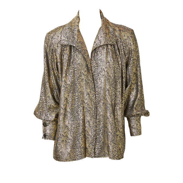 315d7a3061b Yves Saint Laurent Rive Gauche Gold Lame Jacket