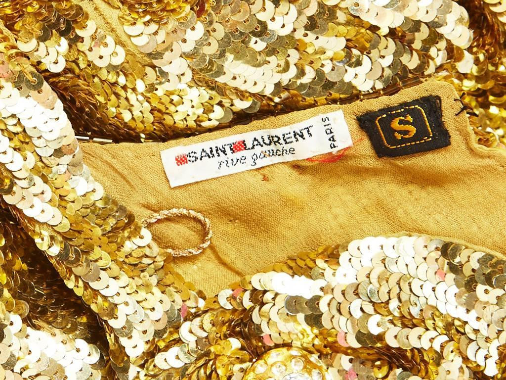 Yves Saint Laurent Gold Sequined Top