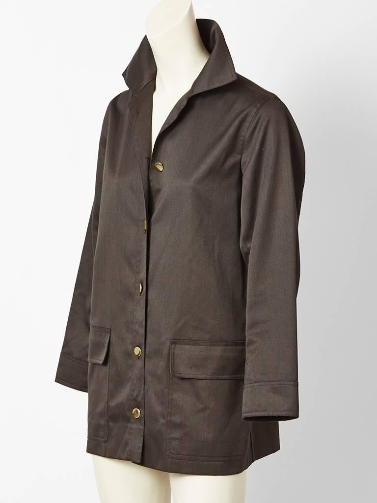 Yves Saint Laurent Charcoal Grey Jacket
