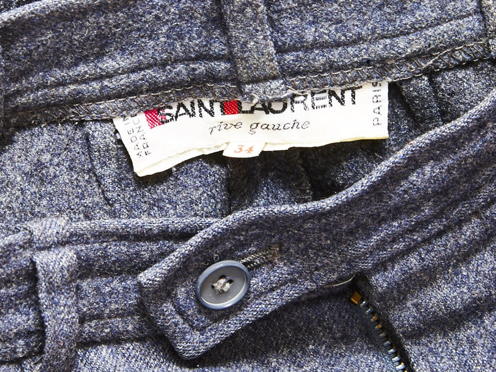Yves Saint Laurent Grey Wool Flannel Trouser