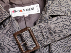 Yves Saint Laurent Patterned Belted Trench