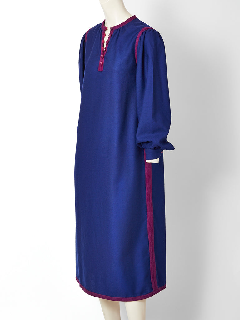 Yves Saint Laurent Russian Collection Wool Day Dress